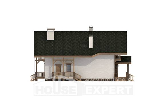 250-003-L Two Story House Plans with mansard, cozy Construction Plans,
