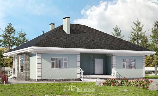 135-003-L One Story House Plans, cozy Ranch,