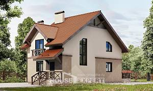 120-003-L Two Story House Plans and mansard, small Home House
