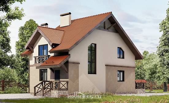 120-003-L Two Story House Plans with mansard, economical House Plans,