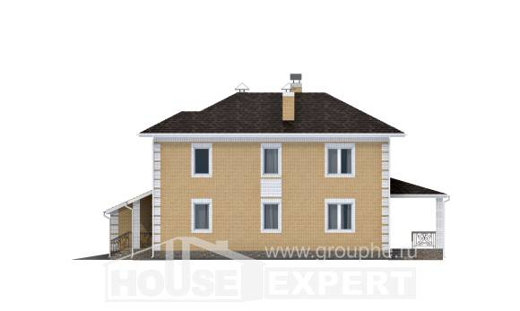220-006-L Two Story House Plans and garage, classic Home House,