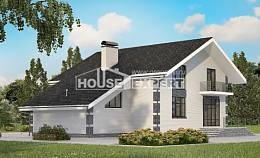 180-001-R Two Story House Plans with mansard with garage in front, beautiful House Blueprints,