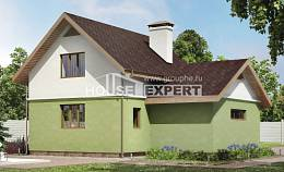 120-002-R Two Story House Plans and mansard with garage in front, the budget House Building,