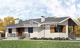 135-002-R One Story House Plans with garage in back, inexpensive Architectural Plans,