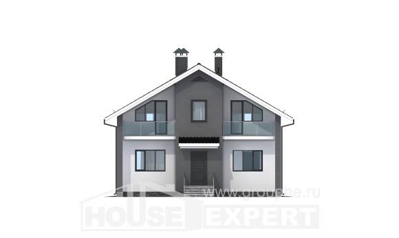 150-005-L Two Story House Plans and mansard, a simple Architectural Plans