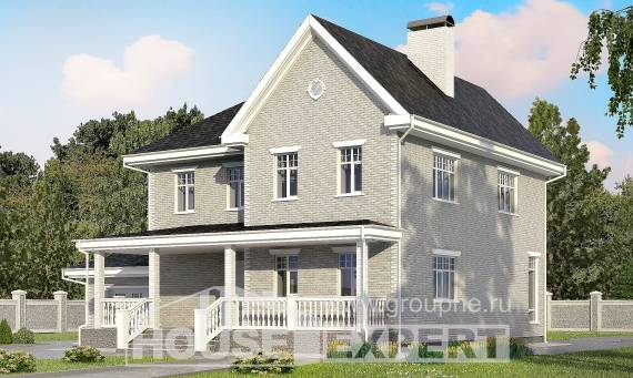190-001-L Two Story House Plans with garage in front, average House Planes,