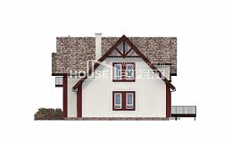 300-008-L Two Story House Plans with mansard roof and garage, big Drawing House,
