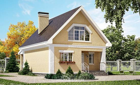 130-004-R Two Story House Plans with mansard, available Woodhouses Plans, House Expert