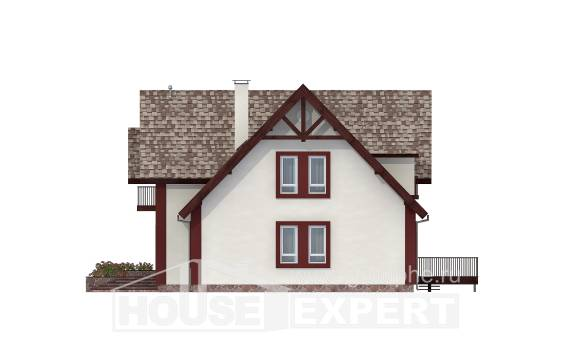 300-008-L Two Story House Plans with mansard roof with garage, beautiful Home House