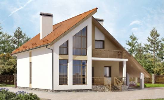 170-009-R Two Story House Plans with mansard roof with garage, the budget Construction Plans, House Expert