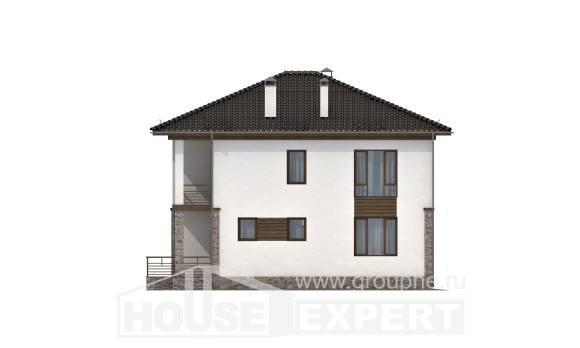 170-005-R Two Story House Plans, cozy Blueprints,
