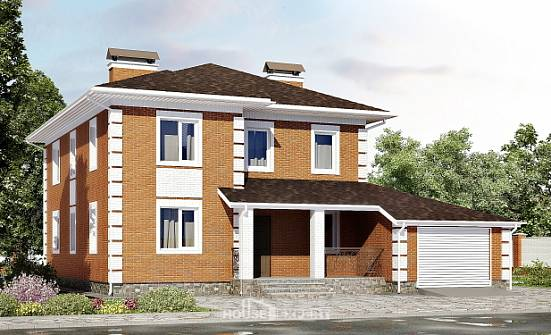 220-004-L Two Story House Plans and garage, classic Models Plans, House Expert