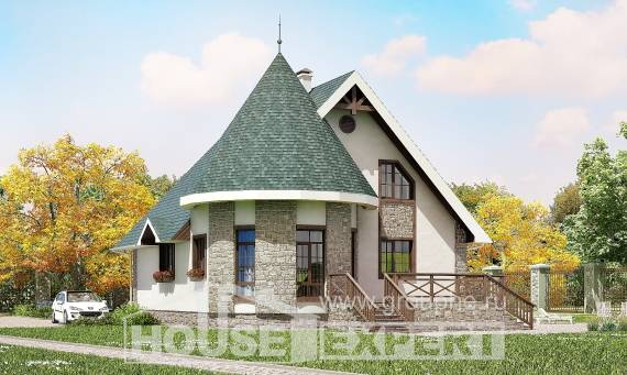 170-003-L Two Story House Plans with mansard roof, a simple Building Plan, House Expert