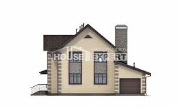 160-004-R Two Story House Plans with mansard with garage, the budget Building Plan,