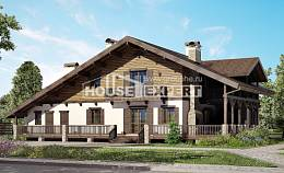 320-002-R Two Story House Plans with mansard, luxury House Plans,
