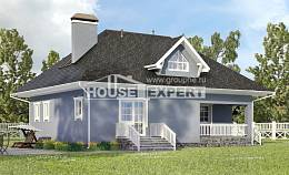 200-001-R Two Story House Plans and mansard with garage in front, spacious House Blueprints, House Expert