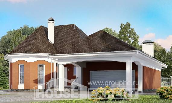 180-007-R Two Story House Plans and mansard with garage in back, inexpensive Design House