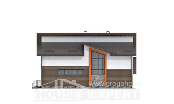 200-010-R Two Story House Plans with mansard with garage under, luxury House Building,