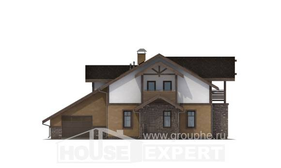 180-011-L Two Story House Plans and mansard with garage, modern Cottages Plans,