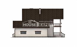 200-003-R Two Story House Plans and garage, cozy Blueprints of House Plans,