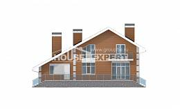190-006-R Two Story House Plans with mansard and garage, cozy Architects House,
