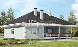 135-003-L One Story House Plans, economical Design Blueprints, House Expert
