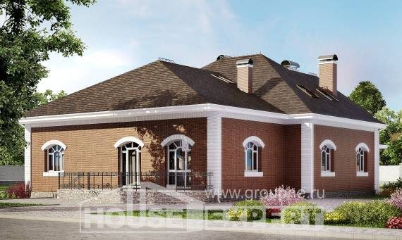 400-003-R Two Story House Plans with mansard, cozy House Plan,