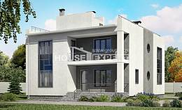 255-001-R Two Story House Plans and garage, spacious House Planes,