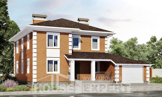 220-004-L Two Story House Plans with garage in front, classic House Planes,
