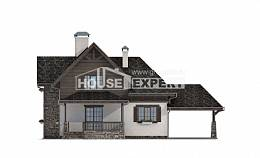 160-002-L Two Story House Plans and mansard and garage, classic Architects House,