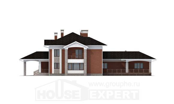400-002-L Two Story House Plans and garage, modern Cottages Plans