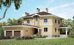 350-002-L Three Story House Plans with garage, beautiful Architectural Plans, House Expert