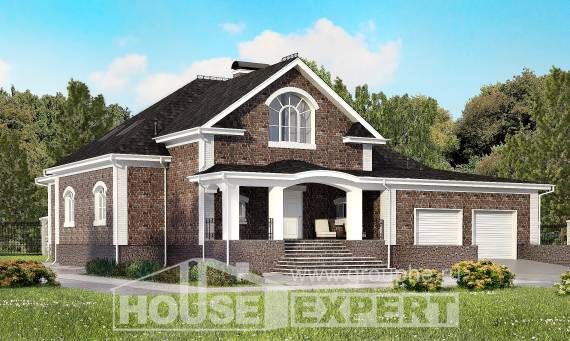 490-001-R Three Story House Plans with mansard with garage in front, big Online Floor