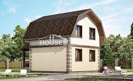 070-004-R Two Story House Plans with mansard, compact Home Plans