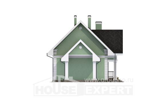 140-003-L Two Story House Plans with mansard and garage, economical Plans To Build, House Expert