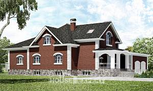 600-001-R Three Story House Plans with mansard with garage, cozy Woodhouses Plans,