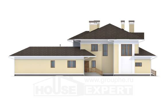 375-002-L Two Story House Plans with garage in front, luxury Plans To Build