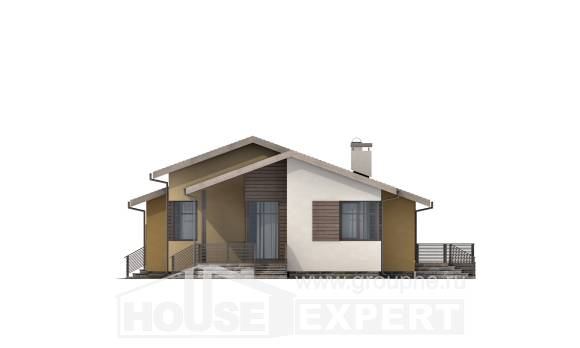 135-002-L One Story House Plans with garage in front, best house Models Plans