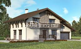 280-001-R Two Story House Plans with mansard roof and garage, best house Design House,