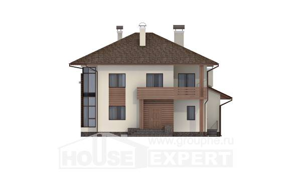 300-001-R Two Story House Plans, cozy Plans Free,