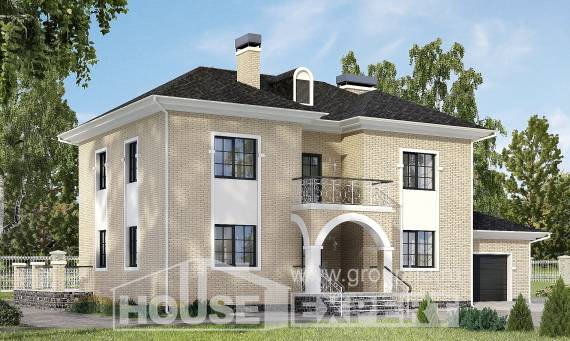 180-006-R Two Story House Plans with garage in front, luxury Floor Plan,