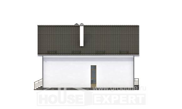 170-006-L Two Story House Plans with mansard, the budget House Plans
