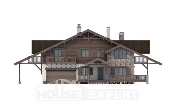 320-001-R Two Story House Plans and mansard with garage in back, a huge House Plan,