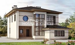 345-001-R Two Story House Plans, luxury Home Blueprints