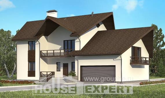 300-002-R Two Story House Plans and mansard with garage in front, a huge Cottages Plans,