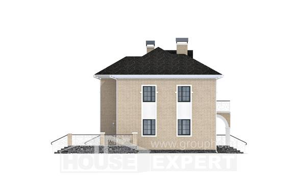 180-006-R Two Story House Plans with garage, classic Models Plans,