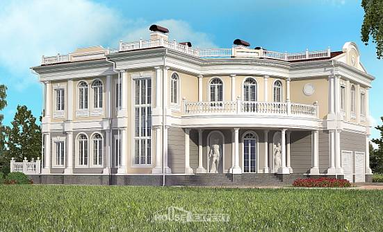 505-001-R Two Story House Plans with garage under, best house Construction Plans, House Expert