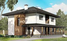 245-001-R Two Story House Plans, cozy Architect Plans,
