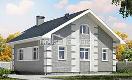 115-001-L Two Story House Plans with mansard roof, the budget Online Floor,