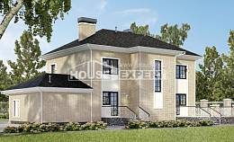 180-006-R Two Story House Plans with garage in front, modern Architectural Plans,